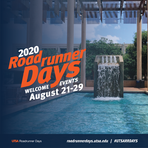 Roadrunner Days Fall 2020 Welcome Events Aug. 21-29